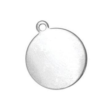 Nickel Silver Circle Drop 14.5mm 24ga Stamping Blank x1
