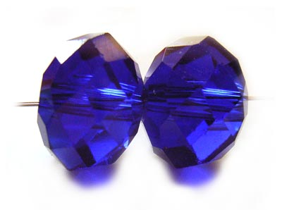 Imperial Crystal Roundelle Beads 12x9mm Cobalt x20