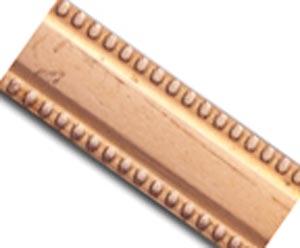 Copper 6.2mm Flat Milgrain Patterned Wire - 18g per half ft - 15cm