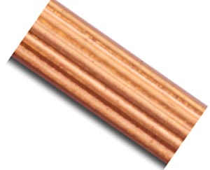 Copper 2.3mm Flat Ribbed Patterned Wire - 20g per half ft - 15cm