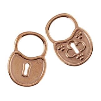 Pure 100% Copper 29.5x20.5mm Large Clover Padlock Pendant x1