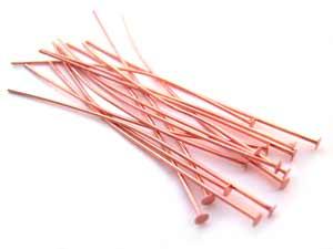 Pure 100% Copper Headpins 2 inch 50mm 22ga x20pc
