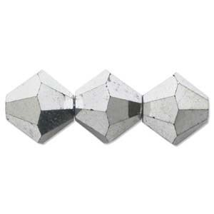 Swarovski Crystal Beads Bicone 4mm Crystal Cal x2 (Double Coat)