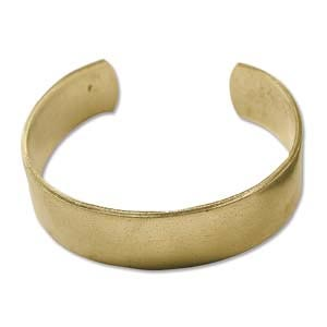 "Brass Cuff Bracelet Blank Flat .75"" 19mm High"