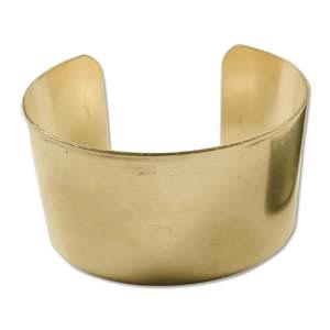 "Brass Cuff Bracelet Blank Flat 1.5"" 37mm High"