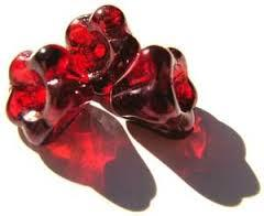 Czech Glass Baby Bell Flower Beads 6x4mm Siam Ruby Vega x50