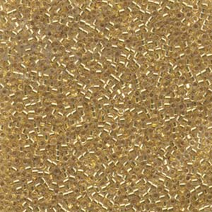 Miyuki Delica 11/0 Lined Glass Seed Beads 24ct Gold Lined
