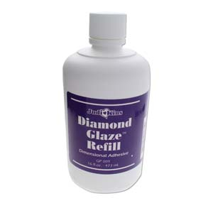 Judikins Diamond Glaze - Water-based Dimensional Adhesive Glue 16oz 473ml