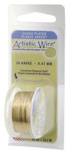 Artistic Wire - 26g Gold SP per 15 yd (13.7m) Dispenser Roll