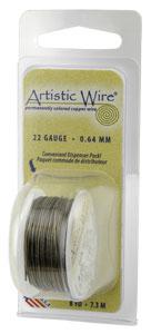 Artistic Wire 28ga Antique Brass (formerly Gunmetal) per 15 yd (13.7m) Dispenser Roll