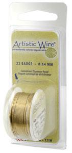 Artistic Wire 32ga Non-Tarnish Brass per 30 yd (27.4m) Dispenser Roll