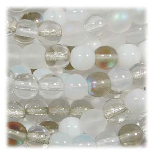 Czech Glass Beads Round Druk 4mm Apparition Mix x100