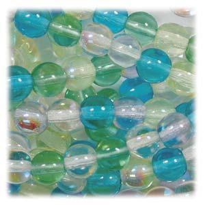 Czech Glass Beads Round Druk 4mm Spring Flowers Mix x100