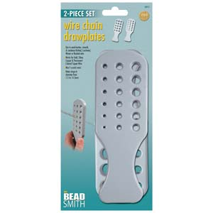 Beadsmith Wire Chain Plastic Drawplates 2-Piece Paddle Set