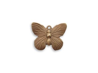 Vintaj Natural Brass 19x15mm Butterfly Charm x1