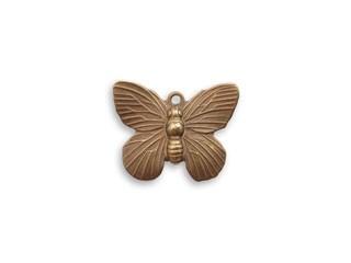 Vintaj Natural Brass 19x15mm Butterfly Charm x1