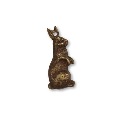 Vintaj Natural Brass 24.2x1.20mm Artful Rabbit