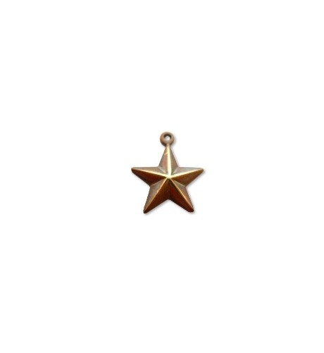 Vintaj Natural Brass 13x15mm Star Charm x1