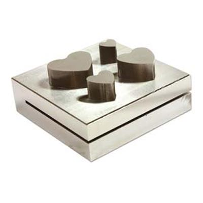 Disc Cutter Hearts Metal Blanks Cutting Set 4 Sizes - Jewellers Tools