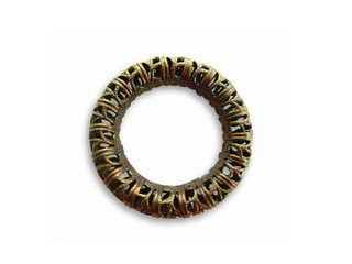 Vintaj Natural Brass - 24mm Filigree Ring x1