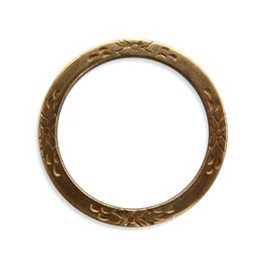 Brass VINTAJ - Natural - 25mm Eternity Garden Ring x1