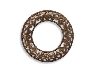Vintaj Natural Brass 24mm Filigree Ring x1