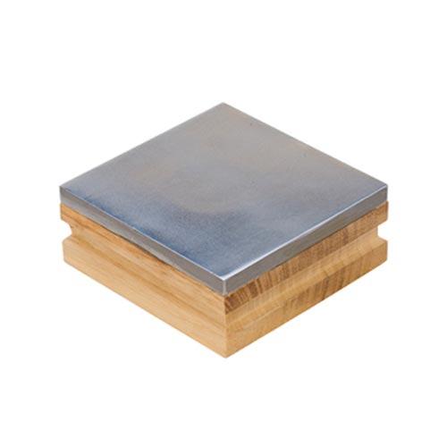 Wooden/Steel 3x3 Bench Block - Eurotool Jewellers Tool