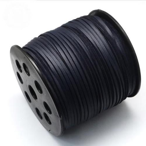 Faux Leather Leatherette Flat Cord 2.7-3mm Navy Blue Prussian per metre