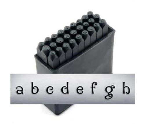 """2.5mm 3/32"""" Alphabet Stamp Set - Delaney Lower Case - ImpressArt"""