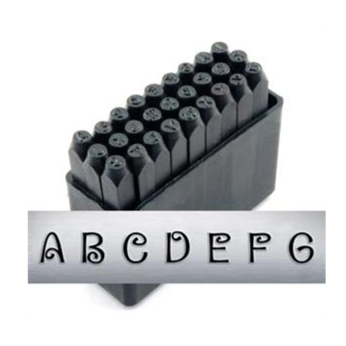 "3mm 1/8"" Alphabet Stamp Set - Delaney Upper Case - ImpressArt"