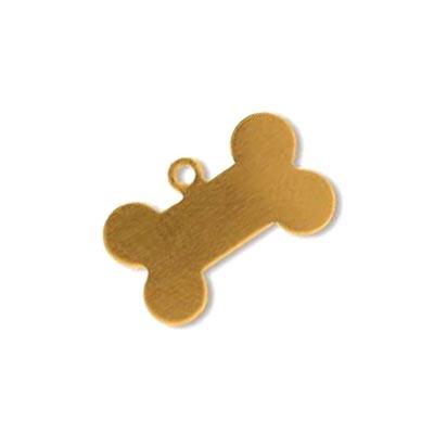 Brass Dog Bone 15.25x9.75mm 24g Stamping Blank x1