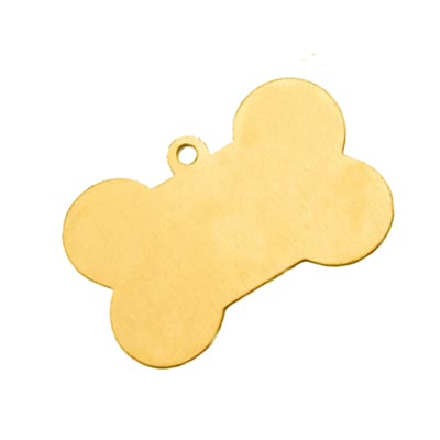 Brass Dog Bone 40.7x26.5mm 24g Stamping Blank x1