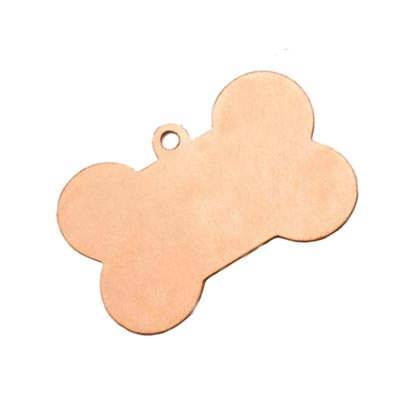 Copper Dog Bone 40.7x26.5mm 24ga Stamping Blank x1