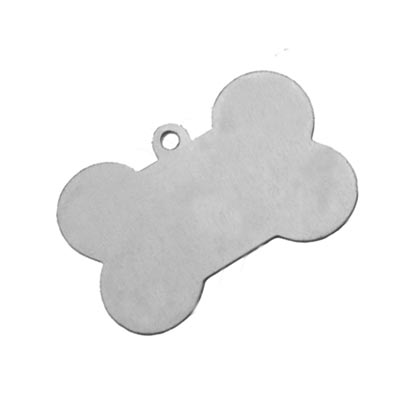Nickel Silver Dog Bone 40.7x26.5mm 24g Stamping Blank x1
