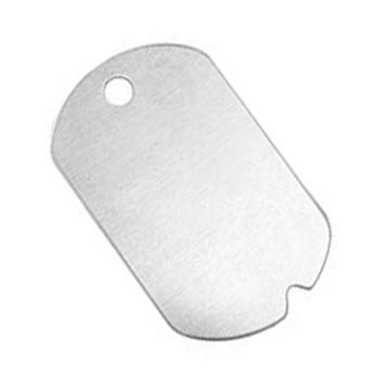 Alkeme Silver Soft Strike Military Dog Tag (1 1/4) 32x19.2mm 20ga Stamping Blank x1