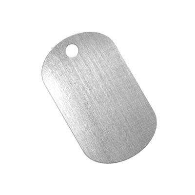 Aluminium Soft Strike Dog Tag 32x19.2mm 20g Stamping Blank x1