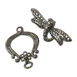Dragonfly Clasp Gunmetal Black Toggle x1
