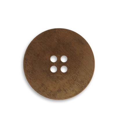 Vintaj Natural Brass 24mm Button Blank x1