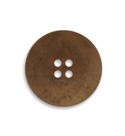 Vintaj Natural Brass 24mm Button Blank x1