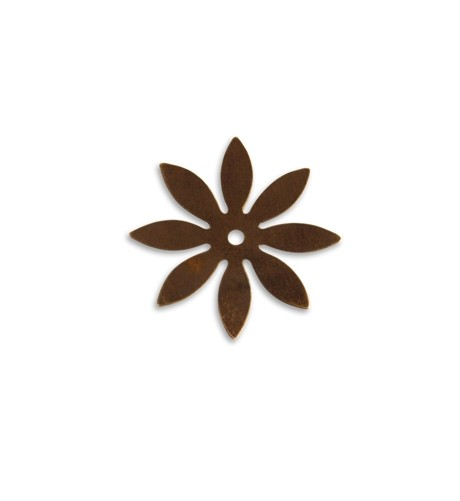Vintaj Natural Brass 34mm 8 Petal Cut Out x1