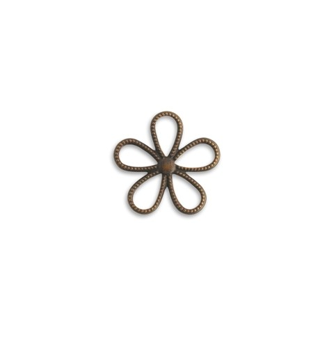Vintaj Natural Brass 24mm Beaded Flower Connector x1