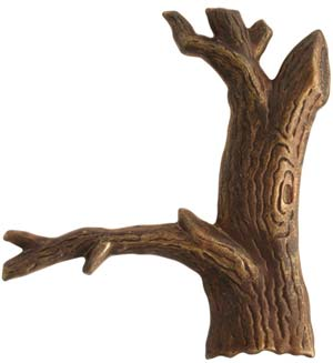 Vintaj Natural Brass 55x48mm Tree x1
