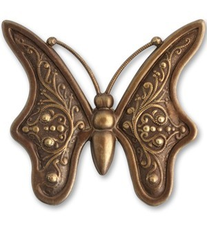 Brass VINTAJ - Natural - 55mm Baroque Butterfly x1