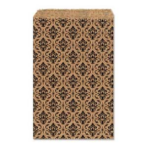 Paper Gift Bags, 11x8.5in 280x210mm Damask x50