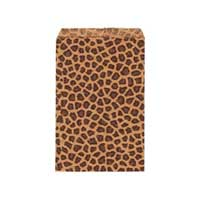 "Paper Gift Bags - 7x5"" 170x128mm ""Leopard"" x50"