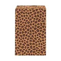"Paper Gift Bags - 9x6"" 230x150mm ""Leopard"" x50"