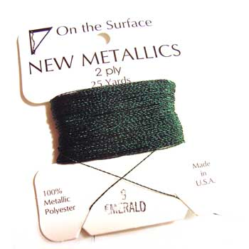 On the Surface - New Metallics 2 Ply 25yds Thread Emerald