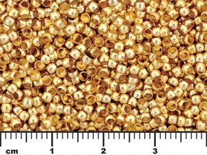 Gold Tone Round Crimp Tube Beads 5.0 grams
