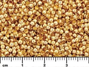 Gold Tone Round Crimp Tube Beads 5.0 grams