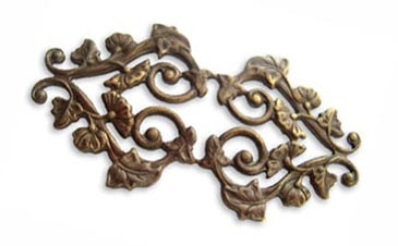 Vintaj Natural Brass 59x31mm Deco Vines Filigree - Wrap x1